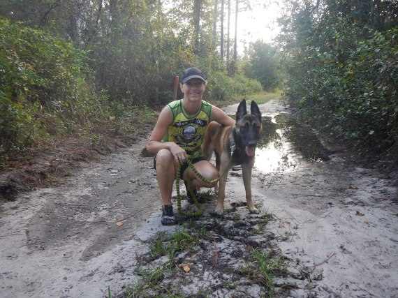 Running with my dog